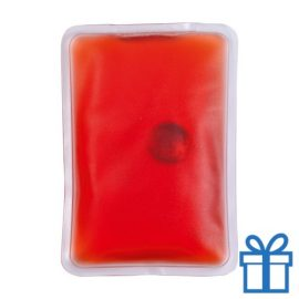 Warm kompres herbruikbaar rood bedrukken