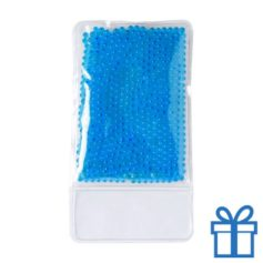 Warm koud kompres blauw bedrukken