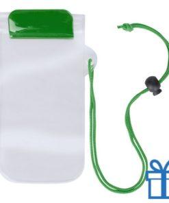 Waterdicht telefoonhoesje onder water groen bedrukken
