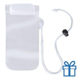 Waterdicht telefoonhoesje onder water wit bedrukken