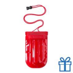 Waterdichte mobiele telefoonhouder opblaasbaar rood bedrukken