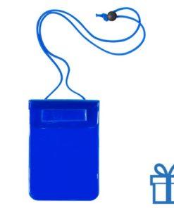 Waterdichte smartphonehoes blauw bedrukken