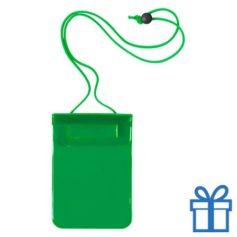 Waterdichte smartphonehoes groen bedrukken