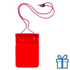 Waterdichte smartphonehoes rood bedrukken
