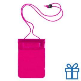 Waterdichte smartphonehoes roze bedrukken
