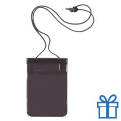 Waterdichte smartphonehoes zwart bedrukken