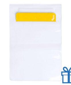 Waterdichte tablethoes geel bedrukken