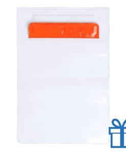 Waterdichte tablethoes oranje bedrukken