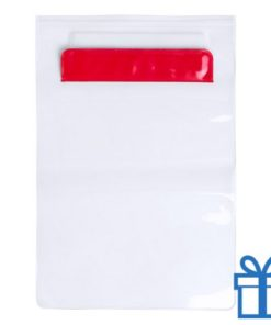 Waterdichte tablethoes rood bedrukken