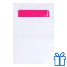 Waterdichte tablethoes roze bedrukken