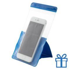 Waterdichte telefoonhoes bescherming blauw bedrukken