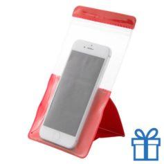 Waterdichte telefoonhoes bescherming rood bedrukken