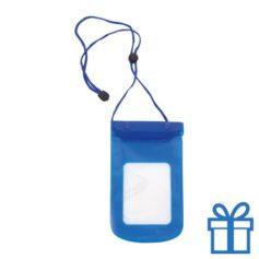 Waterdichte telefoonhoes blauw bedrukken