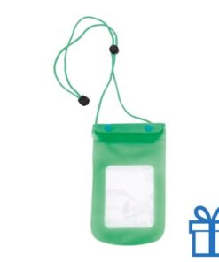 Waterdichte telefoonhoes groen bedrukken