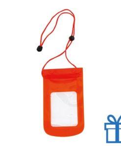 Waterdichte telefoonhoes rood bedrukken