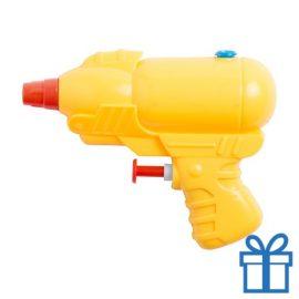 Waterpistooltje geel bedrukken