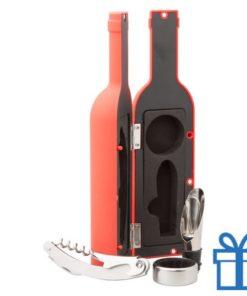 Wijnset rood bedrukken