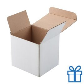 Witte geschenkdoos voor mok wit bedrukken