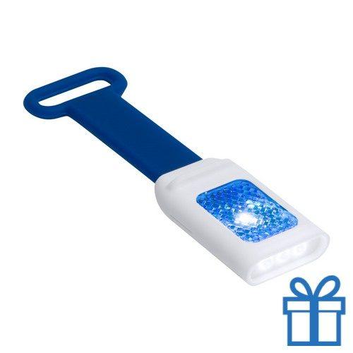 Zaklamp flexie 4 LED blauw bedrukken