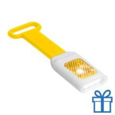 Zaklamp flexie 4 LED geel bedrukken
