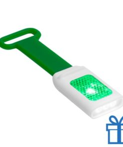 Zaklamp flexie 4 LED groen bedrukken