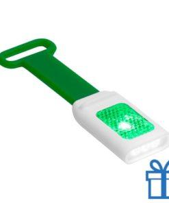Zaklamp flexie 4 LED groen bedrukken