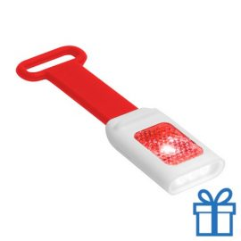 Zaklamp flexie 4 LED rood bedrukken
