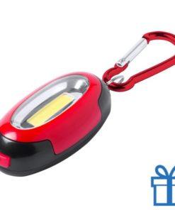 Zaklamp magnetisch rood bedrukken