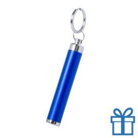Zaklamp plastic LED sleutelhanger blauw bedrukken