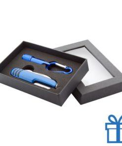 Zakmes LED karabijnhaak blauw bedrukken