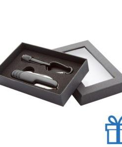Zakmes LED karabijnhaak zwart bedrukken