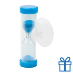 Zandloper 3 minuten blauw bedrukken