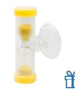 Zandloper 3 minuten geel bedrukken