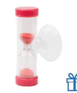 Zandloper 3 minuten rood bedrukken