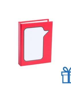 Zelfklevende notitieblaadjes rood