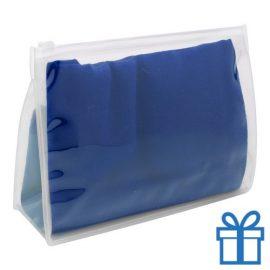 Zomerse sjaal giftbag blauw bedrukken
