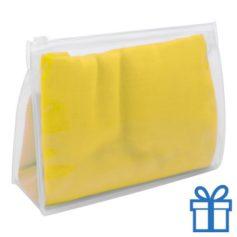 Zomerse sjaal giftbag geel bedrukken