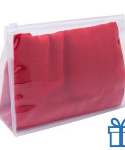 Zomerse sjaal giftbag rood bedrukken
