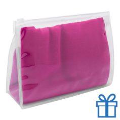 Zomerse sjaal giftbag roze bedrukken