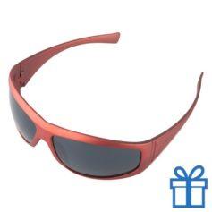 Zonnebril UV400 rood bedrukken