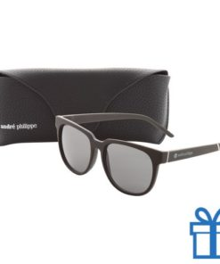 Zonnebril design wayfarer leren brillenkoker bedrukken