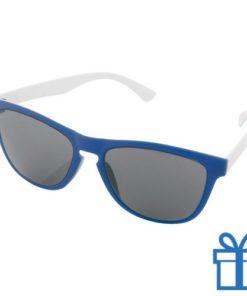 Zonnebril op maat deel 1 blauw bedrukken
