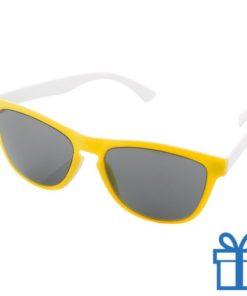 Zonnebril op maat deel 1 geel bedrukken