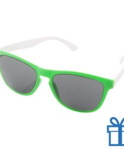 Zonnebril op maat deel 1 groen bedrukken