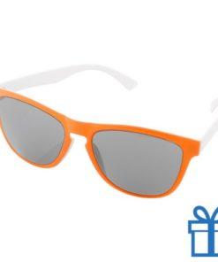 Zonnebril op maat deel 1 oranje bedrukken