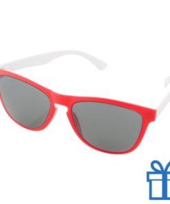 Zonnebril op maat deel 1 rood bedrukken