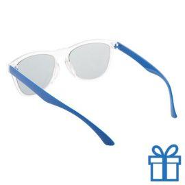 Zonnebril op maat deel 2 blauw bedrukken