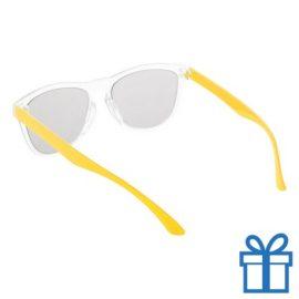 Zonnebril op maat deel 2 geel bedrukken