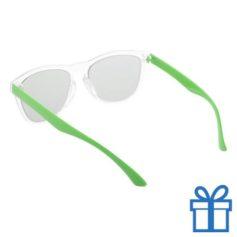 Zonnebril op maat deel 2 groen bedrukken