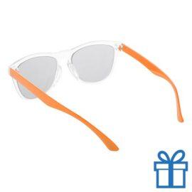 Zonnebril op maat deel 2 oranje bedrukken